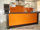 Cor Tempered Splashback de vidro calcinado