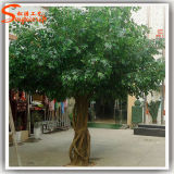La mejor venta de la decoración de interior grande Artificial Ficus Árbol de la planta