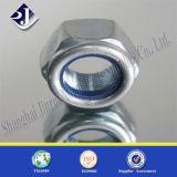 Noix de nylon de zingage de DIN985 Gr8