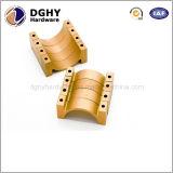 Peças sobresselentes fazendo à máquina anodizadas amarelo do CNC da liga de alumínio da fábrica de China