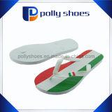 多彩な縞によって印刷される靴の中敷のゴム製人のスリッパの卸売