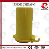 Le verrouillage de cylindre de gaz avec le cadenas empêchent l'accès à la soupape principale