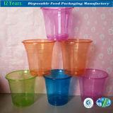처분할 수 있는 투명한 플라스틱 마시는 컵