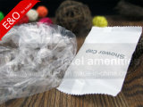 Wegwerfhotel-Annehmlichkeits-Streifen-Dusche-Schutzkappe in der Plastiktasche