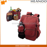 Lunch Food Wine Cooler Travel Bags Backpakcs avec porte-bouteille