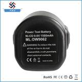 Ni-КОМПАКТНЫЙ ДИСК батареи електричюеского инструмента Dewalt 9.6V 1.5ah перезаряжаемые
