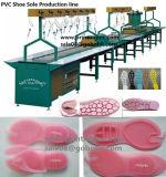 Sandalia de una sola pieza que hace cadena de producción automático y semi automático llenos