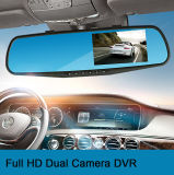 """automobile doppia DVR dell'obiettivo dello specchio di Rearview 720p con """" video dell'affissione a cristalli liquidi 4.3"""