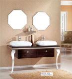 Cabina de cuarto de baño de cerámica grande del acero inoxidable del lavabo del grano de madera