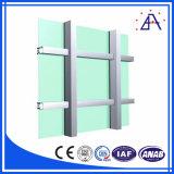 Perfil de aluminio de extrusión de la pared de cortina