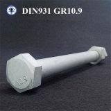 DIN931 Grade10.9 Hex Schrauben-halbes Gewinde