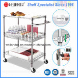NSF Chrome Metal Wire Cuisine Alimentation Stockage Chariot à chariot