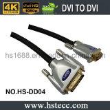 Interpréteur de commandes interactif à grande vitesse DVI en métal au câble dvi avec la jupe de PVC