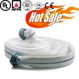 Doppio tubo flessibile dello spruzzatore del fuoco della tela di canapa della gomma di nitrile del rivestimento da 1 pollice