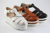 Platform Summer Fashion Sandale en cuir Lady