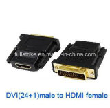 DVI (24+1) Male aan HDMI Female Adapter