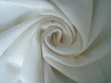 Blanc visqueux de tissu de sergé d'extension du coton T400
