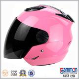 Meio capacete preto Matte fresco da motocicleta (OP201)