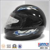 Manufacturer (FL118)著古典的な太字のオートバイまたはモーターバイクのヘルメット