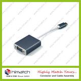 Tipo varón del USB 3.1 de C al cable de la hembra del VGA