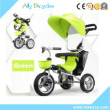 강요 바를 가진 4in1 아기 세발자전거 또는 유아를 위한 우산 닫집 아기 Trike