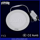 세륨 RoHS CCC Approved 9W Plastic Aluminum Round LED Panel
