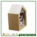 Handgemachte Decoration Wooden Spieluhr mit House Shape