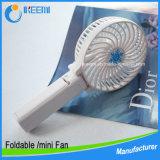 Ventilador portable de la mano del USB del mejor del regalo mini ventilador eléctrico recargable de la mano