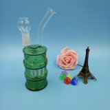 Vasca di gorgogliamento di fumo dell'acqua di vetro verde di Hotsale per tabacco Using