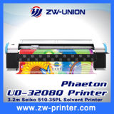 los 3.2m Phaeton Large Solvent Printer con 4/8 Seiko Head