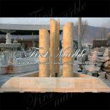 Fonte de mármore Mf-1036 do ouro do deserto da fonte do granito da fonte da pedra da fonte