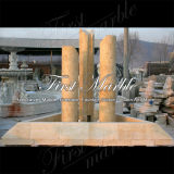 Fontaine en pierre de marbre Mf-1036 d'or de désert de fontaine de granit