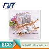 Estante de plato de la cocina respetuosa del medio ambiente/sostenedor de bambú del dren del plato