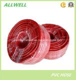 Pipe flexible en plastique rouge de tuyau de jardin de conduite d'eau de PVC (3 couches)