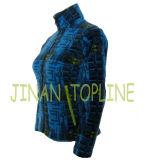 Длинней напечатанный курткой синий пиджак Microfleece