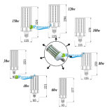 중국 제조자 LED 포스트 최고 고성능 150W LED 옥수수 빛