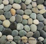 高品質によって混合されるスライスされた小石の石のタイルの装飾