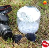 휴대용 태양 손전등 재충전용 Foldable 팽창식 태양 손전등 야영 태양 LED 빛