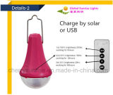 셀룰라 전화 충전기를 가진 태양 점화 장비 3 LED 전구 2600mAh Li 건전지 태양 가정 가벼운 시스템