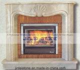 石造りのケービングの屋内大理石及び石灰岩の暖炉の環境