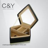 Античная высокая деревянная коробка ювелирных изделий лоска