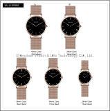 La cinghia di nylon della maglia dell'amante delle coppie di marca della cassa di acciaio inossidabile di modo guarda l'orologio di NATO
