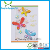 Commercio all'ingrosso di carta di lusso su ordinazione della cartolina d'auguri della fabbrica con il pendente
