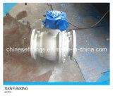 Уплотнение Wcb металла служило фланцем шариковый клапан литой стали API плавая