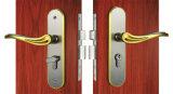 장붓 구멍 레버 손잡이 단단한 아연을%s 가진 PVD 끝마무리 룸 자물쇠 3개의 금관 악기 키