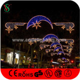 Nuevo LED Christmas Motif Cross Street Light con Fancy Star