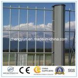 PVC는 경계 벽을%s 용접한 직류 전기를 통한 철 철사 메시 담을 입혔다