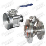 Flush Tank Bottom Ball Valve com flange de soldagem