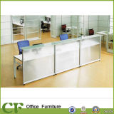 Scrittorio di ricezione moderno di vetro della radura della Tabella di ricezione delle forniture di ufficio di modo