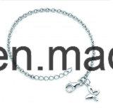 Einfaches Armband /Anklet der silbernen Schmucksache-925